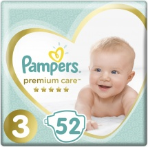 Подгузники Pampers Premium Care 3 (6-10 кг) 52 шт