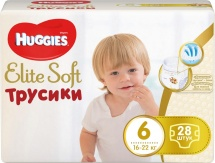 Трусики Huggies Elite Soft 6 (16-22 кг) 28 шт