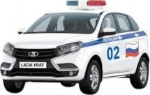 Машинка AutoTime LADA Xray Полиция