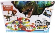 Автотрек Динозавры световые и звуковые эффекты 211 деталей