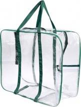 Сумка в роддом 50х40х25 см с карманом, зелёный