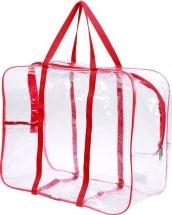 Сумка в роддом 50х40х25 см с карманом, красный