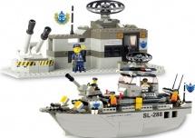 Конструктор Sluban Армия Военный флот 449 деталей