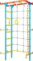 Шведская стенка Romana Karusel S4, красно-голубой