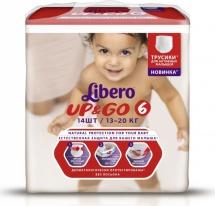 Трусики Libero Up&Go 6 (13-20 кг) 14 шт