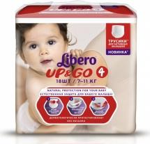 Трусики Libero Up&Go 4 (7-11 кг) 18 шт