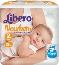 Подгузники Libero Newborn 2 (3-6 кг) 26 шт