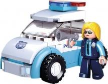Конструктор Sluban Розовая мечта. Полицейский автомобиль 68 деталей