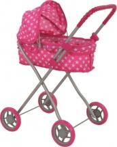 Коляска для кукол Buggy Boom Mixy классическая с капюшоном, звездочки (розовый)