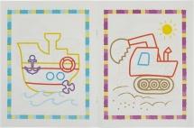 Раскраски для самых маленьких Феникс Первый транспорт