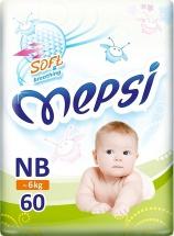 Подгузники Mepsi NB (2-6 кг) 60 шт