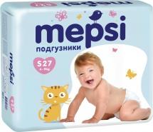 Подгузники Mepsi S (4-9 кг) 27 шт