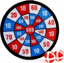 Дартс детский 20 см шарики на липучке, красный-синий