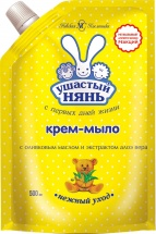 Крем-мыло Ушастый нянь с алоэ вера 500 мл