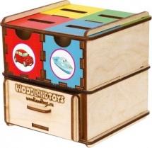 Сортер-комодик Woodland куб Транспорт