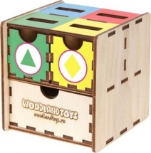 Сортер-комодик Woodland куб Фигуры