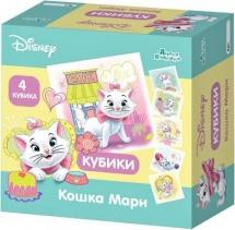 Кубики Десятое королевство Disney Кошка Мари без обклейки 4 шт