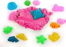 Игровой песок Color Puppy с формочками 1 кг, розовый