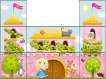 Кубики Стеллар Дворец принцессы 10 шт