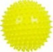 Мяч Альпина пласт ежик желтый 8,5 см