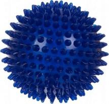 Мяч Альпина пласт ежик синий 8,5 см