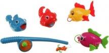 Игра Рыбалка удочка и 4 рыбки