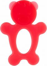Прорезыватель Knopa Мишка, красный