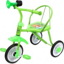 Велосипед трехколесный Moby Kids Друзья с клаксоном, зеленый