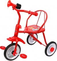 Велосипед трехколесный Moby Kids Друзья с клаксоном, красный