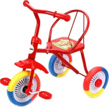 Велосипед трехколесный Moby Kids Ежик, красный