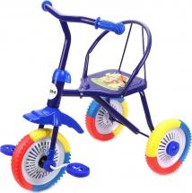 Велосипед трехколесный Moby Kids Ежик, синий