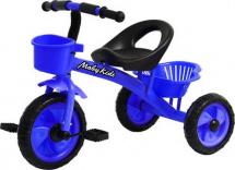 Велосипед трехколесный Moby Kids Пони 2 корзинки, синий