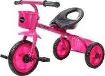 Велосипед трехколесный Moby Kids Пони 2 корзинки, розовый