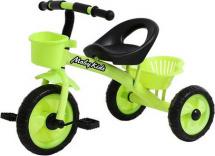 Велосипед трехколесный Moby Kids Пони 2 корзинки, зеленый