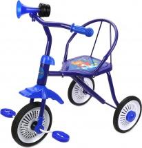 Велосипед трехколесный Moby Kids Друзья с клаксоном, синий