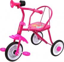 Велосипед трехколесный Moby Kids Друзья с клаксоном, розовый