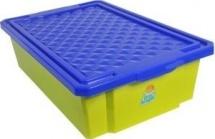 Ящик Little Angel для хранения игрушек на колеса 30 л, фисташковый