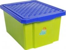 Ящик Little Angel Лего для хранения игрушек 17 л, зеленый