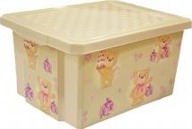 Ящик Little Angel Мишки для хранения игрушек 17 л
