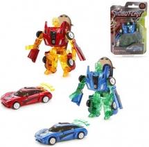 Трансформер Робот-Машина Пламенный мотор Космобот красный/синий