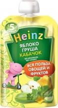 Пюре Heinz яблоко груша кабачок c 5 мес  90 г