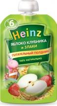 Пюре Heinz яблоко клубника и злаки с 6 мес 90 г