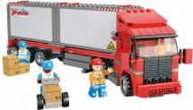 Конструктор Sluban Город. Большой красный грузовик 345 деталей