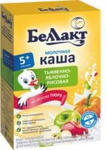 Каша Беллакт молочная рисовая с тыквой и яблоком с 5 мес 250 г