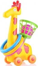 Кольцеброс-каталка Mej-Pol Жираф с корзинкой, желтый