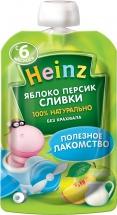 Пюре Heinz Яблоко-Персик-Сливки с 6 мес 90 г
