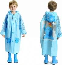 Дождевик детский Amico Слоник размер М (110 см), голубой