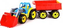Трактор Орион с ковшом и прицепом