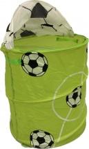 Корзина для игрушек Футбол 37х37х56 см, зеленый