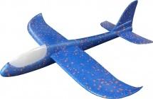 Самолет-планер 48 см с LED подсветкой, синий